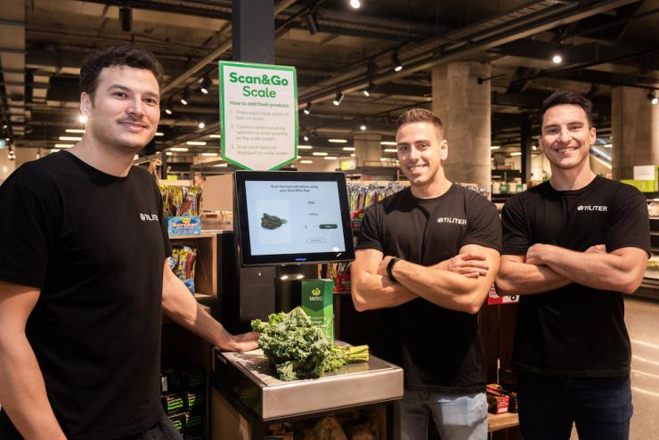 Tiliter UNSW startup at the till scanning items